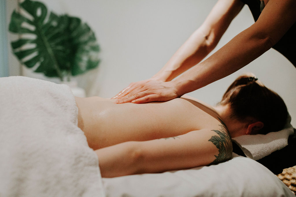 therapist giving a massage